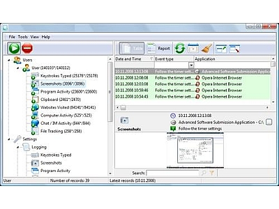REFOG Keylogger full screenshot
